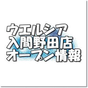 ウエルシア入間野田店新規オープン情報