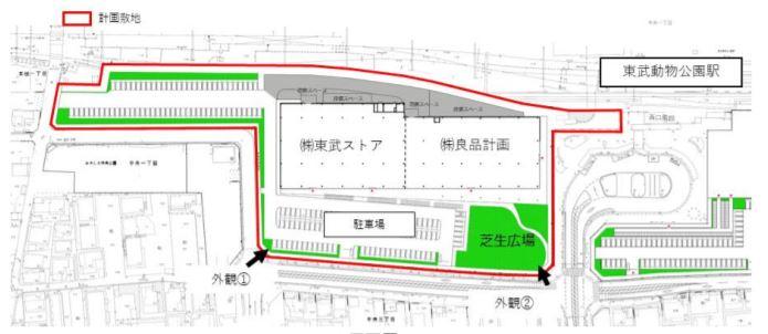 東武動物公園駅西口商業施設計画
