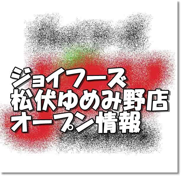 ジョイフーズ松伏ゆめみ野店